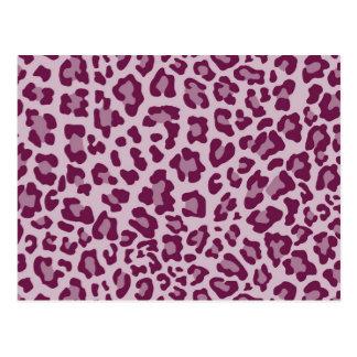 Rainbow Leopard Print Collection - Deep Fuchsia Postcard