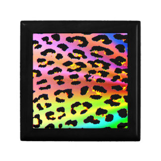 Rainbow Leopard Print Design Gift Box