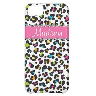 Rainbow Leopard Rhinestone Leopard BLING iPhone iPhone 5C Cases