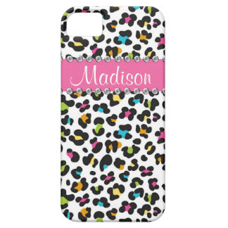 Rainbow Leopard Rhinestone Leopard BLING iPhone iPhone 5 Cover