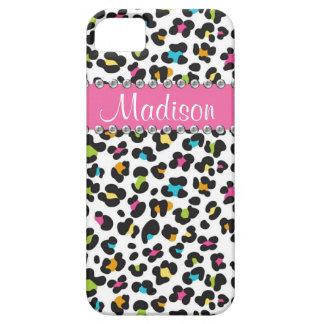 Rainbow Leopard Rhinestone Leopard BLING iPhone iPhone 5 Cover