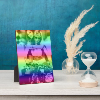 Rainbow Lesbian Pride Personalized Photo Plaque