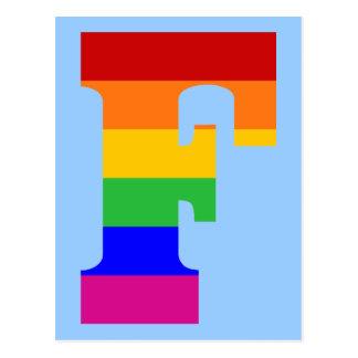 Rainbow Letter F Postcard