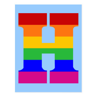 Rainbow Letter H Postcard