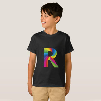 Rainbow Letter 'R for Kids' Hanes TAGLESS® T-Shirt