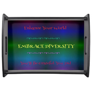 Rainbow LGBT Embracing Diversity Serving Tray