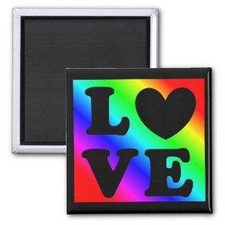 Rainbow LGBT Heart Love Magnet
