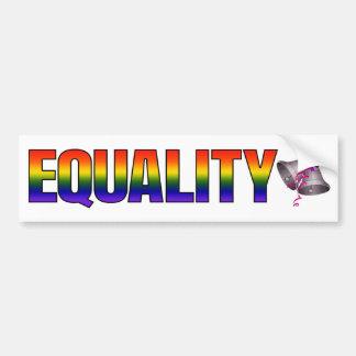 Rainbow LGBTQ Marriage Equality Wedding Bells Bumper Sticker