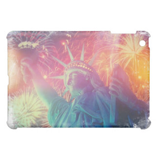 Rainbow Liberty Fireworks IPad Case