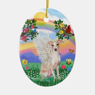 Rainbow Life - Italian Greyhound (fawn) Christmas Ornament