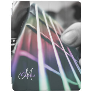 Rainbow Light Bass Guitar Personalized iPad Case