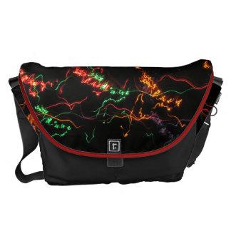 Rainbow Light Graffiti Messenger Bag