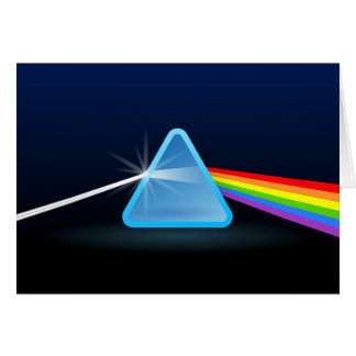 Rainbow Light Separation with Triangle Greeting Card