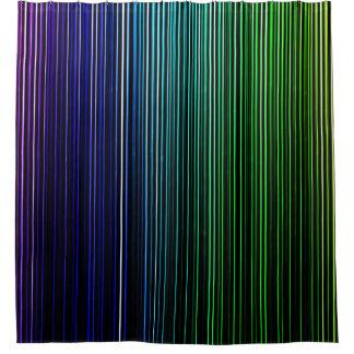 Rainbow Light Stripes Shower Curtain