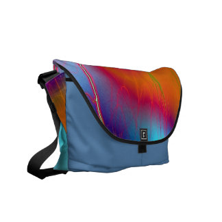 Rainbow lightning Messenger bag
