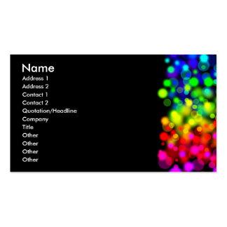 Rainbow Lights Business Card Template