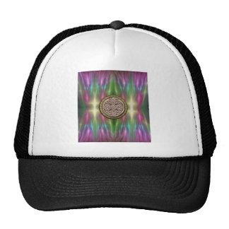 Rainbow Lights Gold Stone Celtic Shield Knot Cap