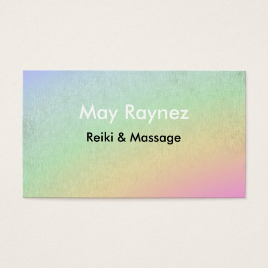 Rainbow LightWorker Reiki Spiritual Business Cards