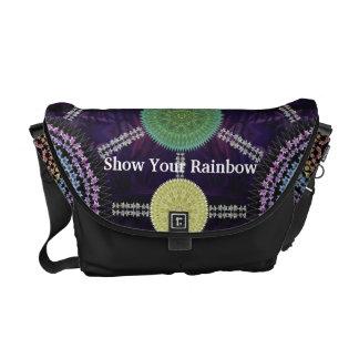 Rainbow Lily Mandala Array Bag Messenger Bags