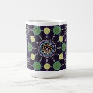 Rainbow Lily Mandala Array Mug