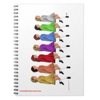 Rainbow Line Spiral Notebooks