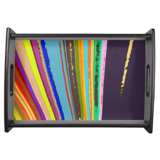 Rainbow Lines Serving Tray