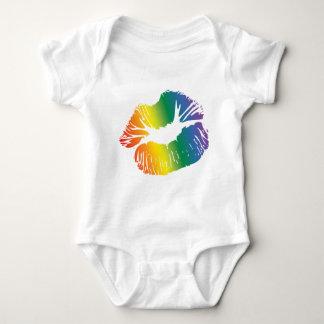 Rainbow Lips 2 Baby Bodysuit