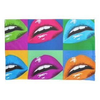 Rainbow Lips Art Nouveau Pop Style Pillowcase