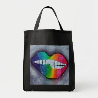 Rainbow Lips Canvas Bag