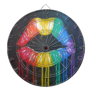 Rainbow Lips Dartboard