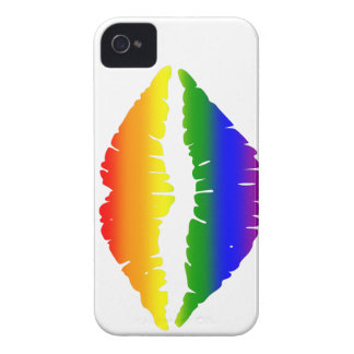 Rainbow Lips Kiss Case-Mate iPhone 4 Case