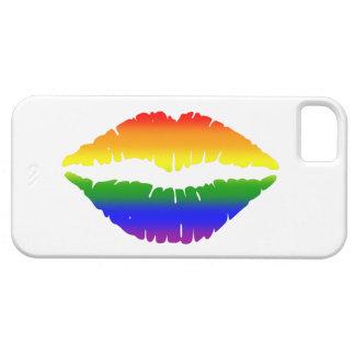 Rainbow Lips Kiss iPhone 5 Cases