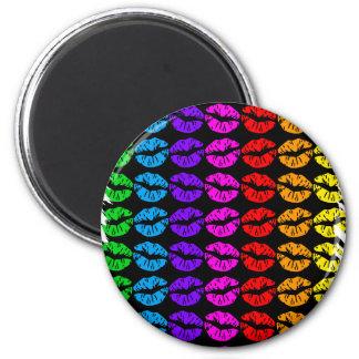 Rainbow Lips Pattern Magnet