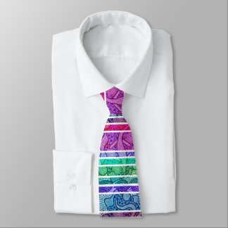 Rainbow Lizard Aboriginal Tie