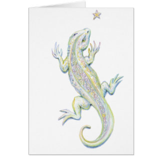 Rainbow Lizard Card