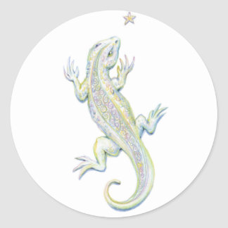 Rainbow Lizard Classic Round Sticker