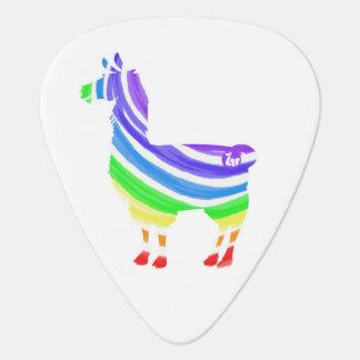 Rainbow Llama Guitar Pick