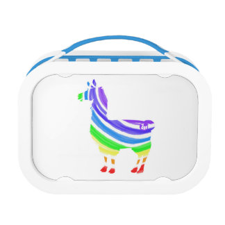 Rainbow Llama Lunch Box