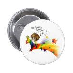 Rainbow Llama Pinback Buttons