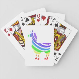 Rainbow Llama Playing Cards