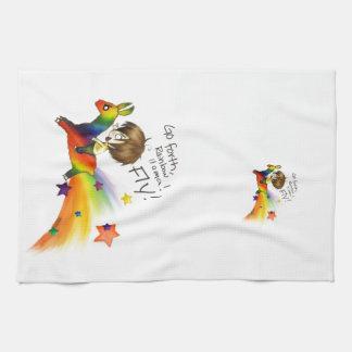 Rainbow Llama Tea Towel