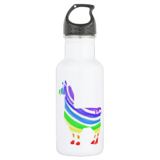 Rainbow Llama Water Bottle
