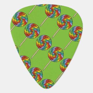Rainbow Lollies Lollipop Candy Pride Print Plectrum