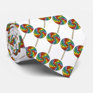 Rainbow Lollipop Candy Lollipops Gay Pride Tie