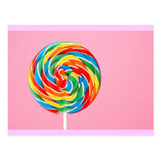 Rainbow Lollipop Postcard