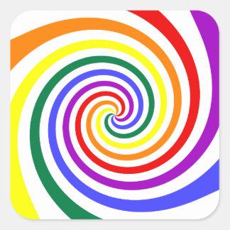 Rainbow Lollipop Square Sticker