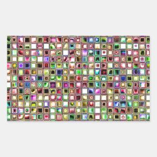 Rainbow 'Lollipop' Textured Mosaic Tiles Pattern Rectangular Sticker