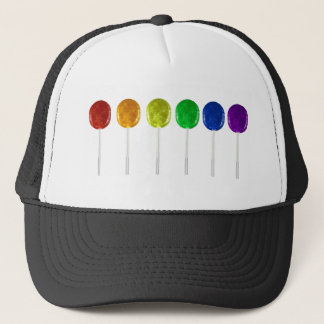 Rainbow Lollipops Trucker Hat