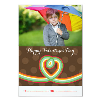 Rainbow Loop Classroom Valentine's Day Photo Cards