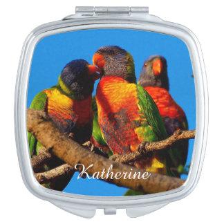 Rainbow Lorikeet compact mirror